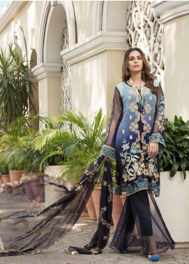 Resham by Sanoor Embroidered Chiffon Unstitched 3 Piece Suit SN20RE 04 - Luxury Collection