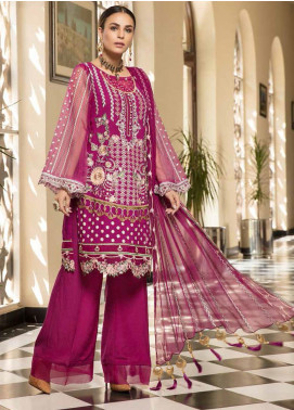 Resham by Sanoor Embroidered Chiffon Unstitched 3 Piece Suit SN20RE 07 - Luxury Collection
