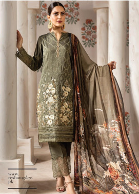 Resham Ghar Embroidered Silk Unstitched 3 Piece Suit RG19DS 04 Yet Fab - Luxury Collection