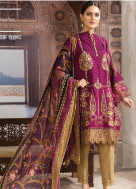 Resham Ghar Embroidered Silk Unstitched 3 Piece Suit RG19DS 08 Pure Elite - Luxury Collection