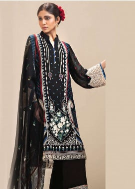 Resham Ghar Embroidered Chiffon Unstitched 3 Piece Suit RGC19LC 06 - Luxury Collection