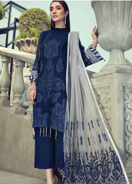 Resham Ghar Embroidered Chiffon Unstitched 3 Piece Suit RG20-C2 03 - Luxury Collection