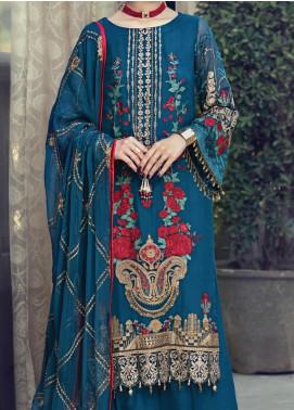 Resham Ghar Embroidered Chiffon Unstitched 3 Piece Suit RG20-C2 05 - Luxury Collection