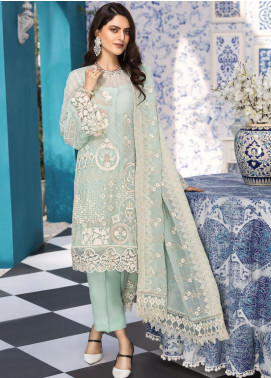 Resham Ghar Embroidered Chiffon Unstitched 3 Piece Suit RG20L 02 - Luxury Collection