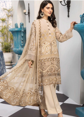 Resham Ghar Embroidered Chiffon Unstitched 3 Piece Suit RG20L 03 - Luxury Collection