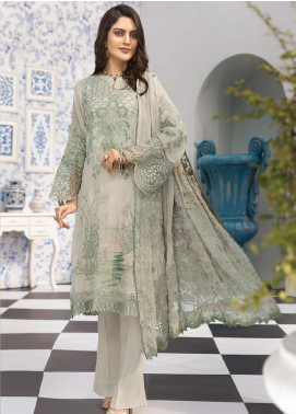 Resham Ghar Embroidered Chiffon Unstitched 3 Piece Suit RG20L 04 - Luxury Collection
