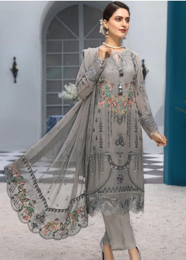 Resham Ghar Embroidered Chiffon Unstitched 3 Piece Suit RG20L 05 - Luxury Collection