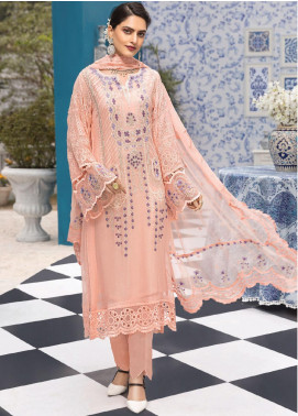 Resham Ghar Embroidered Chiffon Unstitched 3 Piece Suit RG20L 07 - Luxury Collection