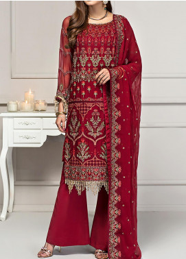 Reveuse Le Tresor by Zarif Embroidered Chiffon Unstitched 3 Piece Suit ZF20-RT2 01 Muse - Luxury Collection