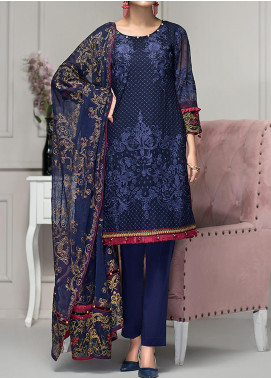 Reveuse Le Tresor by Zarif Embroidered Chiffon Unstitched 3 Piece Suit ZF20-RT2 03 Haven - Luxury Collection