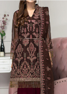Reveuse Le Tresor by Zarif Embroidered Chiffon Unstitched 3 Piece Suit ZF20-RT2 10 Ombre - Luxury Collection