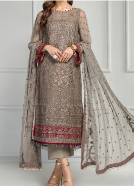 Reveuse Le Tresor by Zarif Embroidered Chiffon Unstitched 3 Piece Suit ZF20RT 01 GRECIA - Luxury Collection