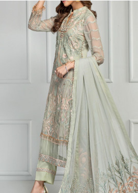 Reveuse Le Tresor by Zarif Embroidered Chiffon Unstitched 3 Piece Suit ZF20RT 03 FLORENCE - Luxury Collection