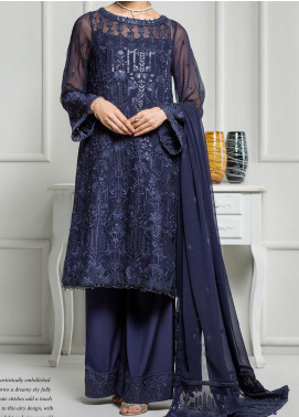 Reveuse Le Tresor by Zarif Embroidered Chiffon Unstitched 3 Piece Suit ZF20RT 04 BERRILIA - Luxury Collection