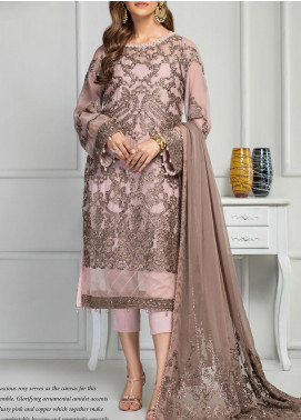 Reveuse Le Tresor by Zarif Embroidered Chiffon Unstitched 3 Piece Suit ZF20RT 06 DELILAH - Luxury Collection
