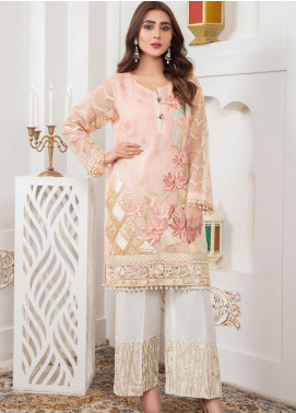 Lush Embroidered Khaadi Net Stitched Suit 04 Naive Posy