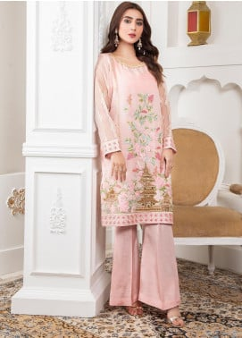 Lush Embroidered Organza Stitched Suit 06 Spring Canpoy