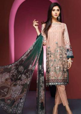 Resham Ghar Embroidered Viscose Unstitched 3 Piece Suit RG17W 03
