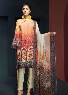 Resham Ghar Embroidered Viscose Unstitched 3 Piece Suit RG17W 05
