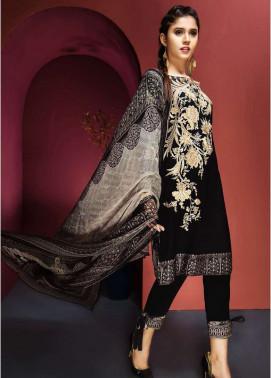 Resham Ghar Embroidered Viscose Unstitched 3 Piece Suit RG17W 07