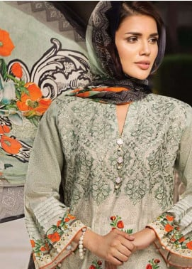 Resham Ghar Embroidered Lawn Unstitched 3 Piece Suit RG18L 04 - Spring / Summer Collection