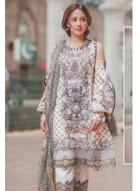 Rang Rasiya Embroidered Lawn Unstitched 3 Piece Suit RGR17C 153B