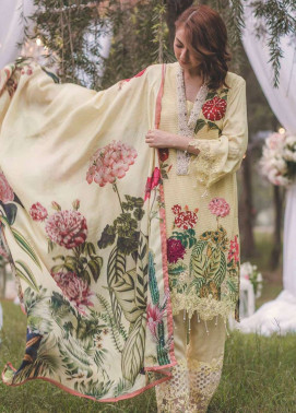 Rang Rasiya Embroidered Chiffon Unstitched 3 Piece Suit RGR17W2 5005