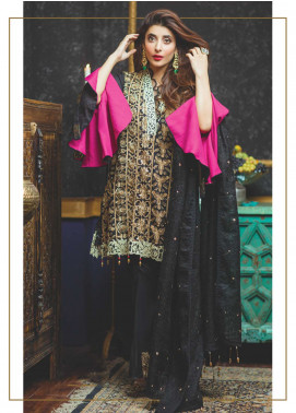 Rang Rasiya Embroidered Chiffon Unstitched 3 Piece Suit RGR18-E2 18B - Eid ul Azha Collection