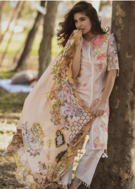 Rang Rasiya Embroidered Lawn Unstitched 3 Piece Suit RGR18L 6B ENCHANTED FAIRYTALE - Spring / Summer Collection