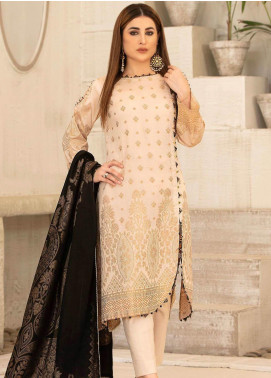 Riaz Arts Printed Banarsi Unstitched 3 Piece Suit RA20B 19 - Summer Collection