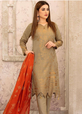 Riaz Arts Printed Banarsi Unstitched 3 Piece Suit RA20B 20 - Summer Collection