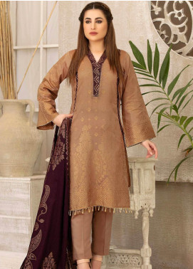 Riaz Arts Printed Banarsi Unstitched 3 Piece Suit RA20B 21 - Summer Collection
