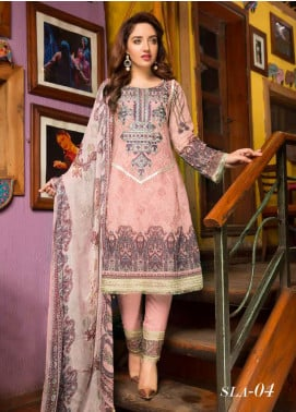 Shamira Embroidered Lawn Unstitched 3 Piece Suit SHR20RL 04 - Spring / Summer Collection