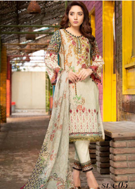 Shamira Embroidered Lawn Unstitched 3 Piece Suit SHR20RL 05 - Spring / Summer Collection