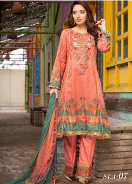 Shamira Embroidered Lawn Unstitched 3 Piece Suit SHR20RL 07 - Spring / Summer Collection