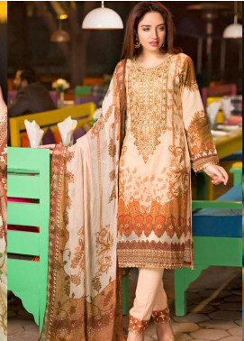 Shamira Embroidered Lawn Unstitched 3 Piece Suit SHR20RL 08 - Spring / Summer Collection