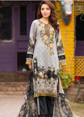Shamira Embroidered Lawn Unstitched 3 Piece Suit SHR20RL 09 - Spring / Summer Collection