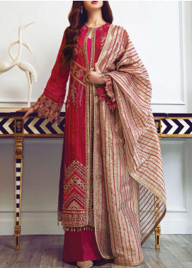 Ritzier by Rang Rasiya Embroidered Chiffon Unstitched 3 Piece Suit RR20RW 01 Vintage Vanity - Wedding Collection