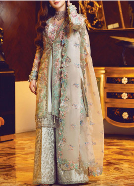 Ritzier by Rang Rasiya Embroidered Organza Unstitched 3 Piece Suit RR20RW 02 Persian Galore - Wedding Collection