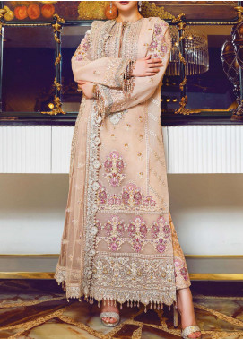 Ritzier by Rang Rasiya Embroidered Organza Unstitched 3 Piece Suit RR20RW 03 Ethnic Royale - Wedding Collection