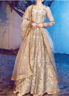 Ritzier by Rang Rasiya Embroidered Organza Unstitched 3 Piece Suit RR20RW 08 Dancing Fireflies - Wedding Collection