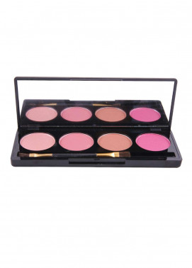 Rivaj UK Colorful Pro Blusher Palette - 4 Colors