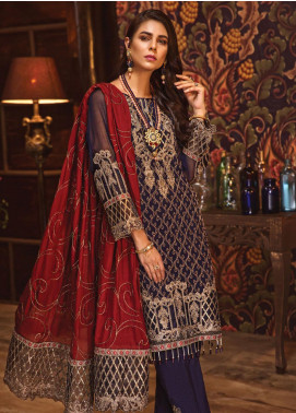 Rivayat by Mohagni Embroidered Chiffon Unstitched 3 Piece Suit RMO19C 02 - Luxury Collection