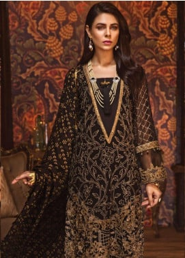 Rivayat by Mohagni Embroidered Chiffon Unstitched 3 Piece Suit RMO19C 03 - Luxury Collection