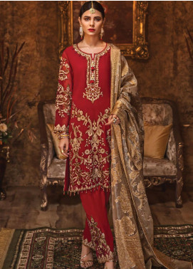 Rivayat by Mohagni Embroidered Chiffon Unstitched 3 Piece Suit RMO19C 04 - Luxury Collection