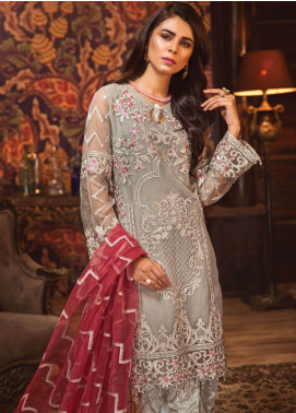 Rivayat by Mohagni Embroidered Chiffon Unstitched 3 Piece Suit RMO19C 06 - Luxury Collection