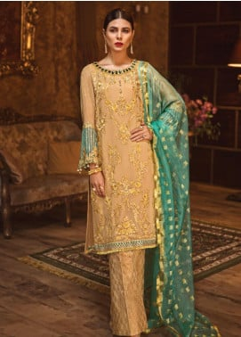Rivayat by Mohagni Embroidered Chiffon Unstitched 3 Piece Suit RMO19C 07 - Luxury Collection