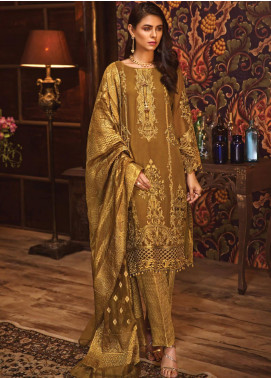 Rivayat by Mohagni Embroidered Chiffon Unstitched 3 Piece Suit RMO19C 08 - Luxury Collection