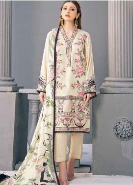 Riwayat by Ramsha Embroidered Linen Unstitched 3 Piece Suit RSH20R 103 - Winter Collection
