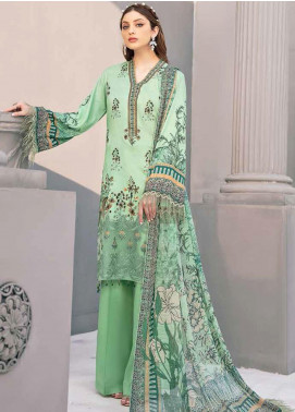 Riwayat by Ramsha Embroidered Linen Unstitched 3 Piece Suit RSH20R 110 - Winter Collection